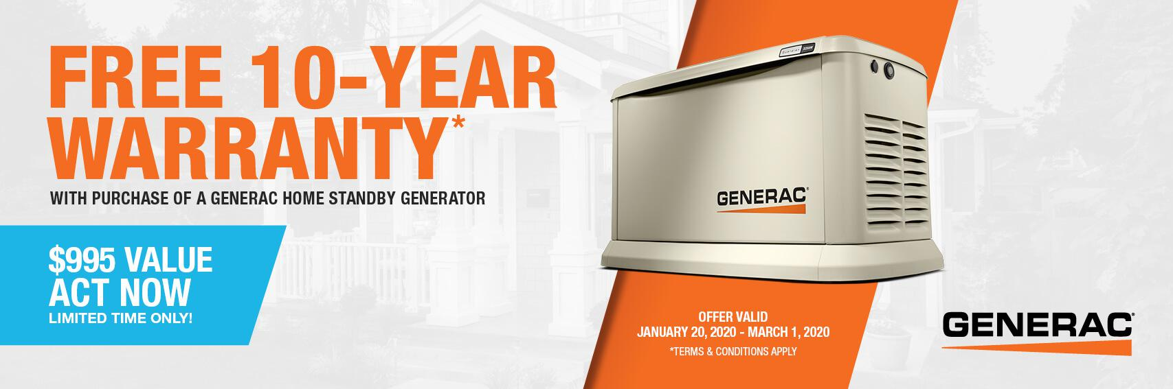Homestandby Generator Deal | Warranty Offer | Generac Dealer | Darien, CT